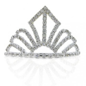 Bling Jewellery Gold Plated Crystal Silver Screen Queen Bridal Tiara