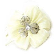 "Headband 'french touch' ""Sissi"" ivory."