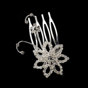 Marcella. Crystal Floral Wedding Hair Accent Pin Comb