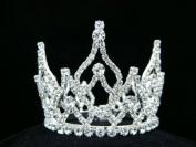 Rhinestone Crystal Prom Bridal Wedding Mini Bun Tiara Crown