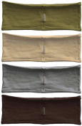 Headband 4-pack - single layer thin hBand Earth-tone collection (olive, grey, beige, dark brown) by Absolute Yogi