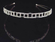 1.3cm Crystal Tiara Head Bandhair Jewellery for Wedding, Prom, Pageant, Quinceañera or Other Special Events.
