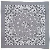 Charcoal Paisley . Cotton Bandana