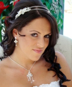 Exquisite Crystal & Pearl Bridal Tiara with Side Ornament