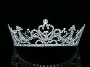 Bridal Wedding Pageant Queen Rhinestone Crystal Full Tiara Crown