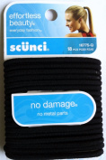 Scunci Effortless Beauty No Damage Black Colour Ponytail Holders