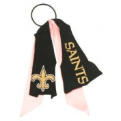 New Orleans Saints Pink Ribbon Pony Tail Holder