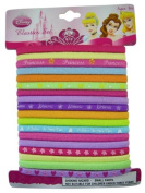 Disney Collection 18pc Multi-Colour Disney Princess Hair Elastics Set - Disney Princess Hair Ponies