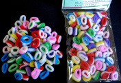 Pack Of 100 SMALL Terry Elastic Tiny Ponytail Hair Band Holder MIX colours