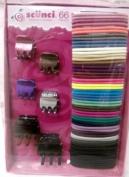 Scunci Hair Accessories, 66 Pcs Elastics & Clips