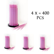 Health and Beauty Lint Free Microbrushes X4 Tubes 400 Pcs