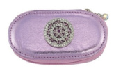 Round Lace Flower Pink Small Make up Brush Case Set of 5 Brushes