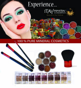 """ITAY Mineral Four Brush Set + 8 Stack Mineral Eye Shimmer """"Nature Beauty"""" BS8S01"""