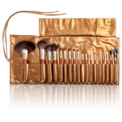 Shany Pro Studio Quality ZGF Premium Goat Hair Brush Set with Wooden Handle and Golden Pouch