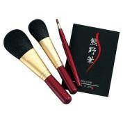 Kfi-80r Kumano Makeup Brush Set Heart of the Brush Japan