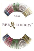 Colour Eyelashes (Mixed Colour with Tinsel) C201