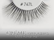 Creme (Pairs of 3) 100% HUMAN HAIR Fashion Eye Lashes Pair #747L