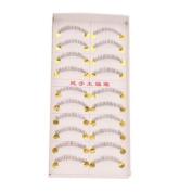 New 10 Pairs Handmade Bottom Lower False Eyelashes Fake Eye Lash Black