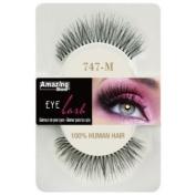 Amazing Shine Human Hair False Eyelashes - 747-M