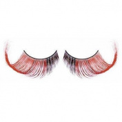 Elegant long false red & brown lashes nr.551 Including free adhesive