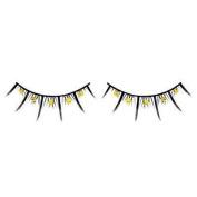 Yellow Diamante False Eyelashes 07