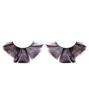 Long Flared Black Feather Eyelashes