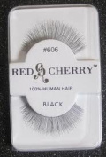 Red Cherry False Eyelashes #606 Black Pack of 3