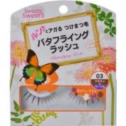 CEZANNE Sweets Sweets | Eyelash | Butterflying Lash BL03 Brown x Purple