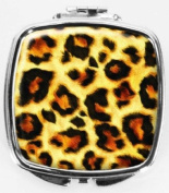 Leopard Print Compact Mirror