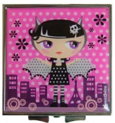 Kawaii Cute Vampire Girl Mini Square Compact Mirror