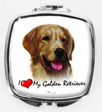 I Love My Golden Retriever Compact Mirror
