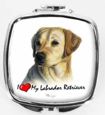 I Love My Yellow Labrador Compact Mirror