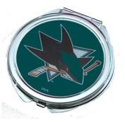 San Jose Sharks Ladies Compact Mirror w/ Floral Design