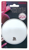 Swissco suction cup mirror. 20x magnification, 3 1/2'' diameter Colours May Vary
