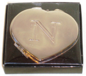 "Valentines Personal Heart Compact Makeup Mirror ""N"""