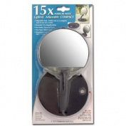 15X Lighted Adjustable Travel Compact Mirror