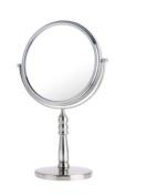 Danielle Enterprises Satin Nickel 10x Vanity Mirror, Satin Nickel, 20cm X 14.2 -Inch High