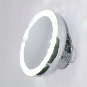 Mirror Place LED Lighted Suction Cup 10X Mirror, Battery Operated
