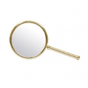 Frasco Hand Double Sided Mirror, 14cm Rd, Brass
