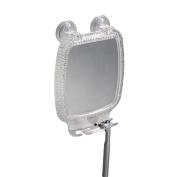 InterDesign Rain Power Lock Suction Fog Free Rectangular Mirror, Clear