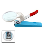 Easy No-Mess Magnified Nail Clipper with Nail Catcher - Fingernails, Toe Nails