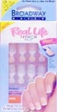 Kiss Broadway Nails Real Life French Nail Kit, Sensible - 1 Ea