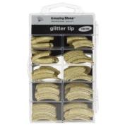 Amazing Shine 100 Glitter Nail Tips - Gold