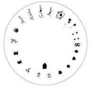 Design Wheel-Spec Occas,Vegas Nail Master Stencil Shield