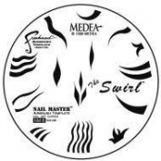 Nail Master 8 Stencil Shield The Swirl