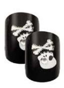 Cala Little Miss Nails Press On Set in Skull and Crossbones + FREE Aviva nail file