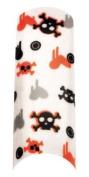 Cala Professional Holiday Design Airbrushed Nail Tips in # 87-740 + Free A-viva Eco Nail File