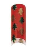 Cala Professional Holiday Design Airbrushed Nail Tips in # 87-782 + Free A-viva Eco Nail File