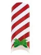 Cala Professional Holiday Design Airbrushed Nail Tips in # 87-783 + Free A-viva Eco Nail File