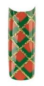 Cala Professional Holiday Design Airbrushed Nail Tips in # 87-789 + Free A-viva Eco Nail File
